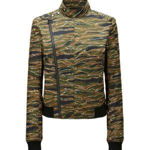 Carine Roitfeld Uniqlo Camo Print Jacket M